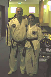Sabum and Lisa after grading